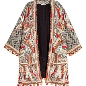 H&M collection beaded embroidered kimono Jacket